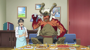 Takashi and Drum Bunker Dragon Father Partying