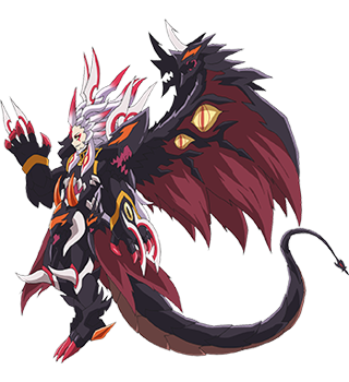 Demonic Dragon Deity of the Black Sun, Gaen Full Body