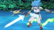 Tasuku in his Star Dragon World armor