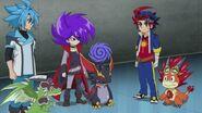 Gao, Tasuku, and Gaito with their dragons