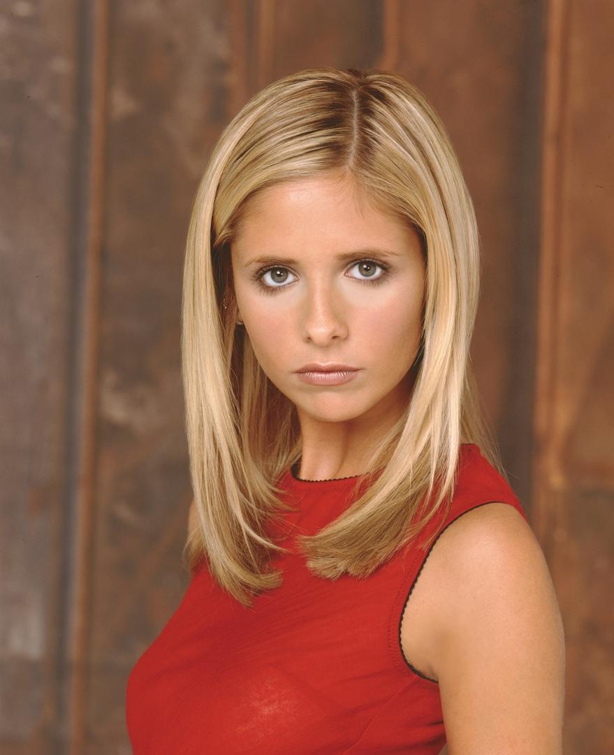 Buffy the Vampire Slayer (1997-2003) — американский молодёжный телесериал с Сара Мишель Геллар в главной роли о судьбе американской девушки, обладающей сверхчеловеческими силами. Сериал создан по мотивам одноимённого полнометражного фильма 1992 года. Начинаясь как комедийный фильм ужасов, с каждым сезоном сериал становился всё мрачнее и драматичнее. Старшеклассница Баффи Саммерс переезжает из Лос-Анджелеса в городок Саннидейл. Никто не знает, что Баффи — не простая школьница, а Избранная, которой суждено сражаться с демонами, вампирами и силами зла. Однако это всеобщее незнание длится недолго...