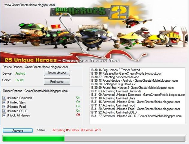 File:Bug Heroes 2 android cheats hacks free download.jpg