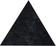 Obsidian equilateral triangle