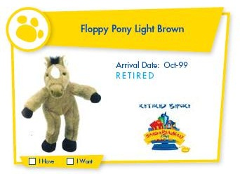 Floppy Pony Light Brown
