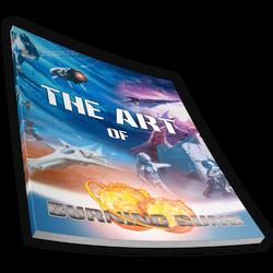 The art of Burning Suns book magazine render 1