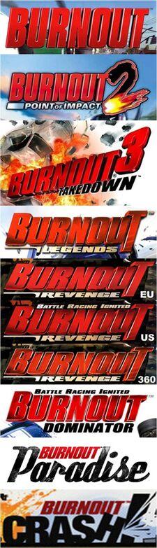 Burnout Logo Evolution