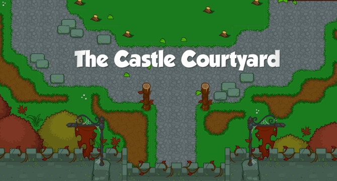 The Castle Courtyard Banner