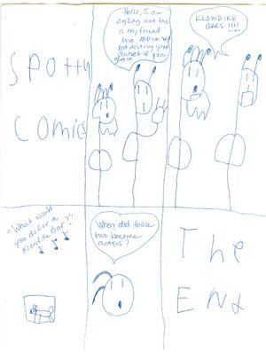 Spotty Comic Aliens