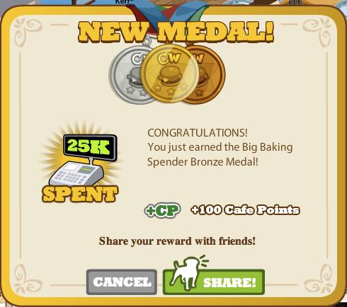 Big Baking Spender Bronze Medal