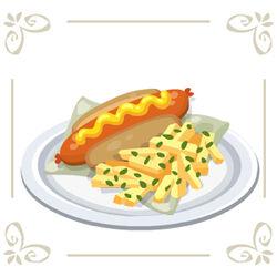 Hotdogandgarlicfries