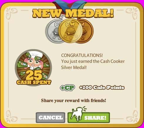 Cash Cooker Silver Medal