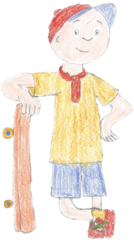 File:Caillou posing with skateboard.png