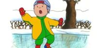 Caillou Learns to Ice Skate