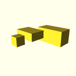 OpenSCAD linux i686 mesa-dri-r300 wicr opencsgtest-output cube-tests-actual