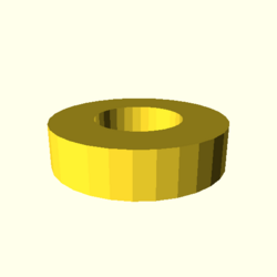 OpenSCAD linux ppc64 gallium-0.4-on hvub throwntogethertest-output rotate extrude dxf-tests-actual