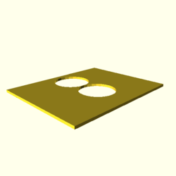 OpenSCAD linux i686 software-rasterizer idwd opencsgtest-output polygon-holes-touch-actual