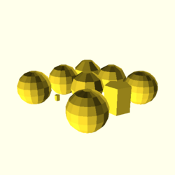 OpenSCAD linux ppc64 gallium-0.4-on hvub throwntogethertest-output sphere-tests-actual