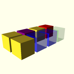 OpenSCAD linux i686 mesa-dri-r300 wicr regression opencsgtest color-tests-expected