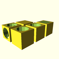 OpenSCAD win 586 ati-radeon-x300 hdrv opencsgtest-output difference-tests-actual