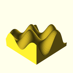 OpenSCAD mac 64-bit nvidia-geforce-gt cdiv throwntogethertest-output surface-tests-actual