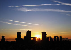 Summer Solstice Sunrise over Stonehenge 2005