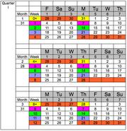 National Week Date Calendar 2013-05-29