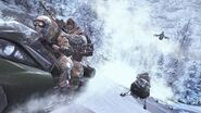 MW2 Cliffhanger snowmobile chase