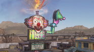 Clown Sign firing Cannonball Sideshow AW