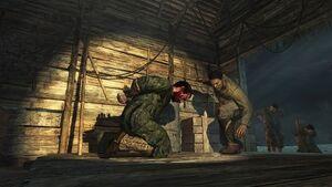 K. Pyle being tortured Semper Fi WAW