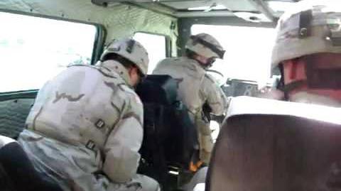 Soldier drops fake grenade in Humvee as a prank