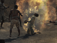 Civilian burning Back on the Grid