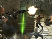 SOG member firing XM8