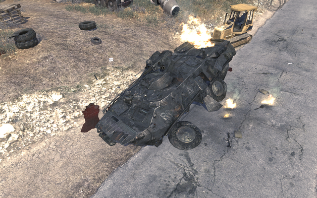 File:Destroyed BTR-80 The Enemy of my Enemy MW2.png