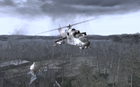Mi-24 flying over the church All Ghillied Up COD4