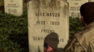 Mason's grave