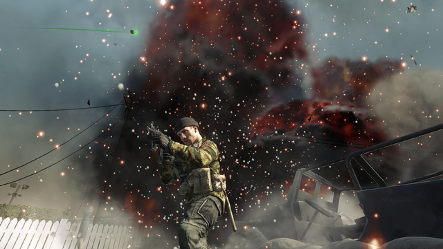 File:AdvancedRookie Nuketown spetsnaz aiming MP5k in front of exploding car.png