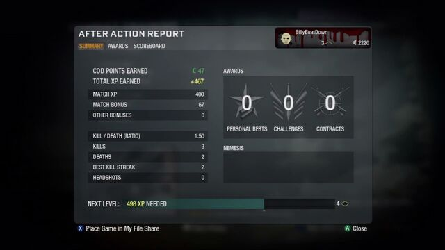 File:After Action Report CoDPoints Menu BO.jpg
