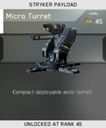Micro Turret Unlock Card IW