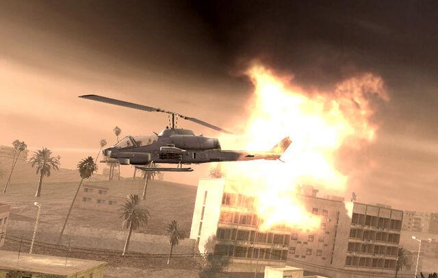 File:Pelayo's AH-1 Cobra being hit Shock and Awe CoD4.jpg