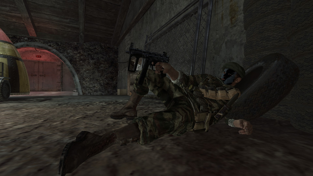 File:AdvancedRookie Crisis soldier in second chance wielding MP5k.png