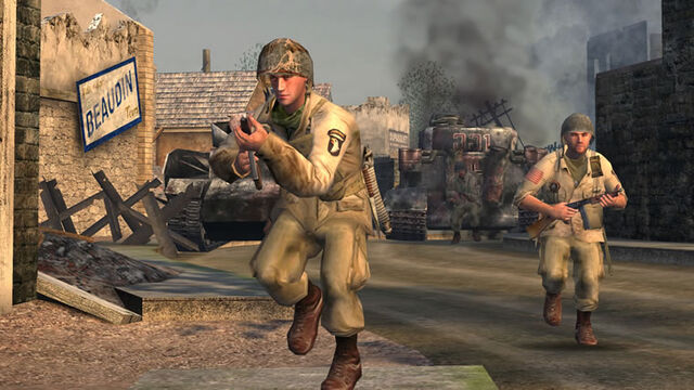 File:Call of Duty-Capt.Foley & Sgt.Moody in Ste-Mere Eglise.jpg