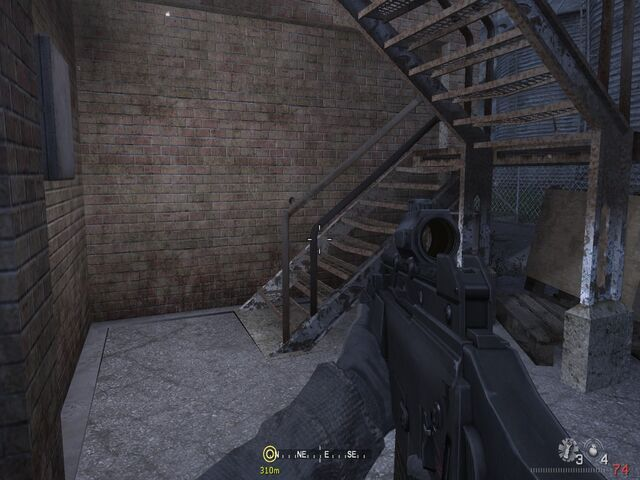 File:Stairs leading to balcony Hunted CoD4.jpg