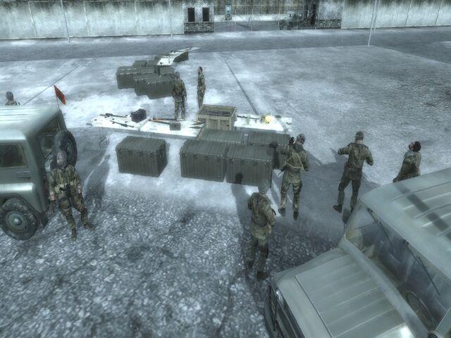 File:Convoy waiting for Zakhaev One Shot One Kill CoD4.jpg