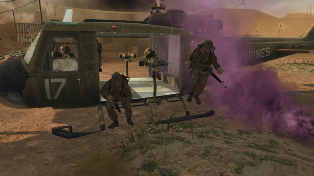 File:US Marines Dropping out of Huey BO.png