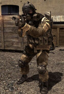 Spetznaz soldier MP7 MW3