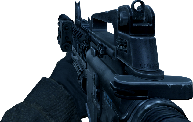 File:M4A1 SOPMOD without Red Dot Sight CoD4.png