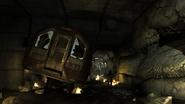 Crashed tube train Mind the Gap MW3