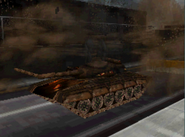 Franks destroying a T-30 Russian tank