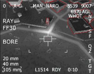 AC-130 HUD of Thunder One-One's Gunner CoD4DS