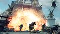 Explosion and enemies at Eiffel Tower Iron Lady MW3.jpg